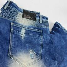 Smoke Rise Mens Bike Distressed Blue Jeans W 44 L 33  - $79.99