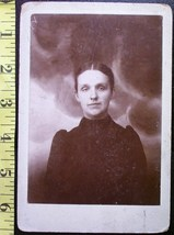 Cabinet Card Spooky Lady w/Demon Faces in Clouds 1880`s  - $8.00