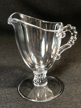 "Vintage Imperial Glass Ohio Candlewick Clear Glass Creamer 5"" - $6.92"