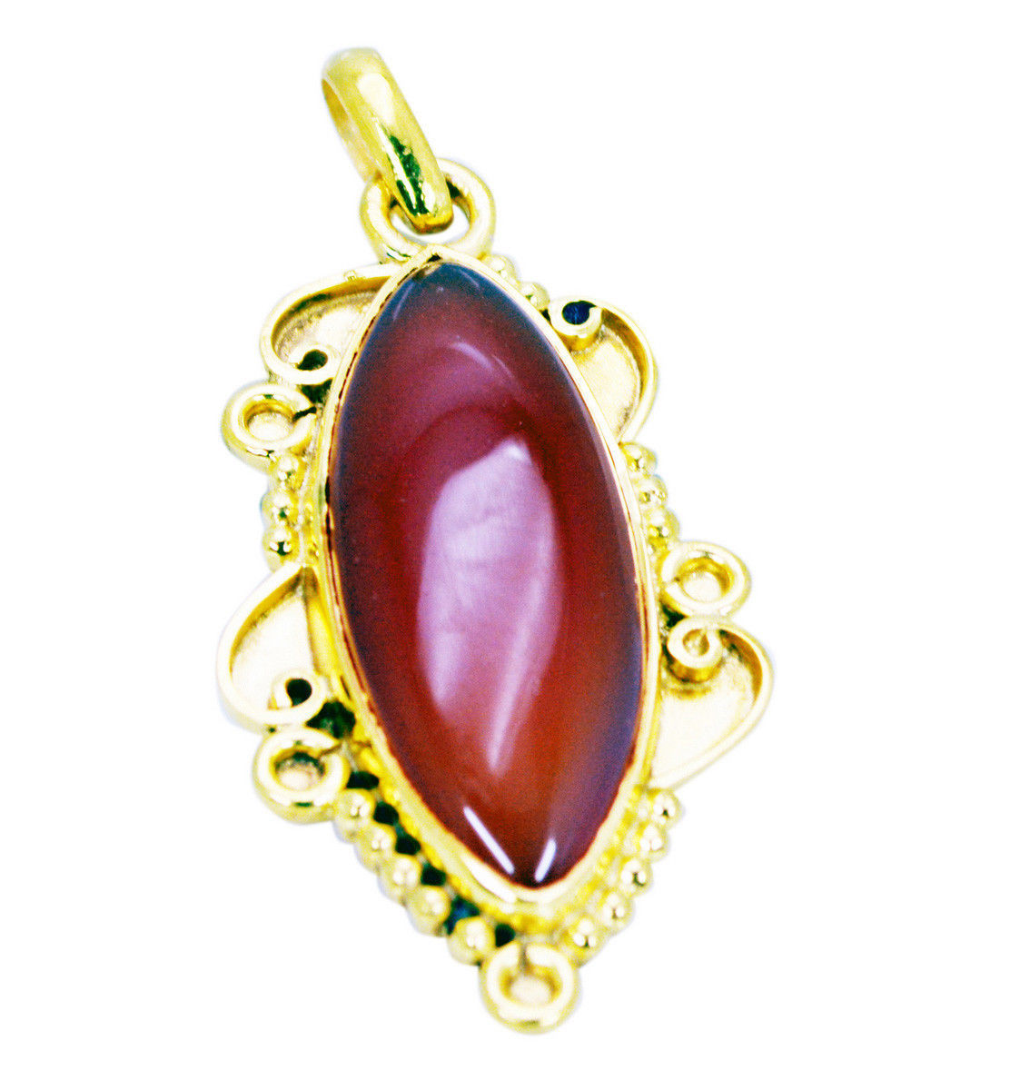 resplendent Red Onyx Gold Plated Red Pendant Fashion Designer US