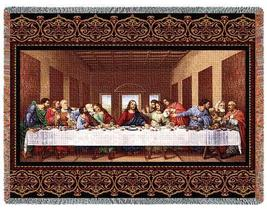 70x53 Lords Jesus LAST SUPPER Tapestry Throw Blanket  - $60.00
