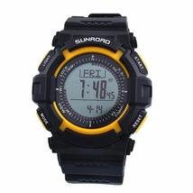 Multifunction 3ATM waterproof altimeter compass smart sports watch-Yellow - $58.00
