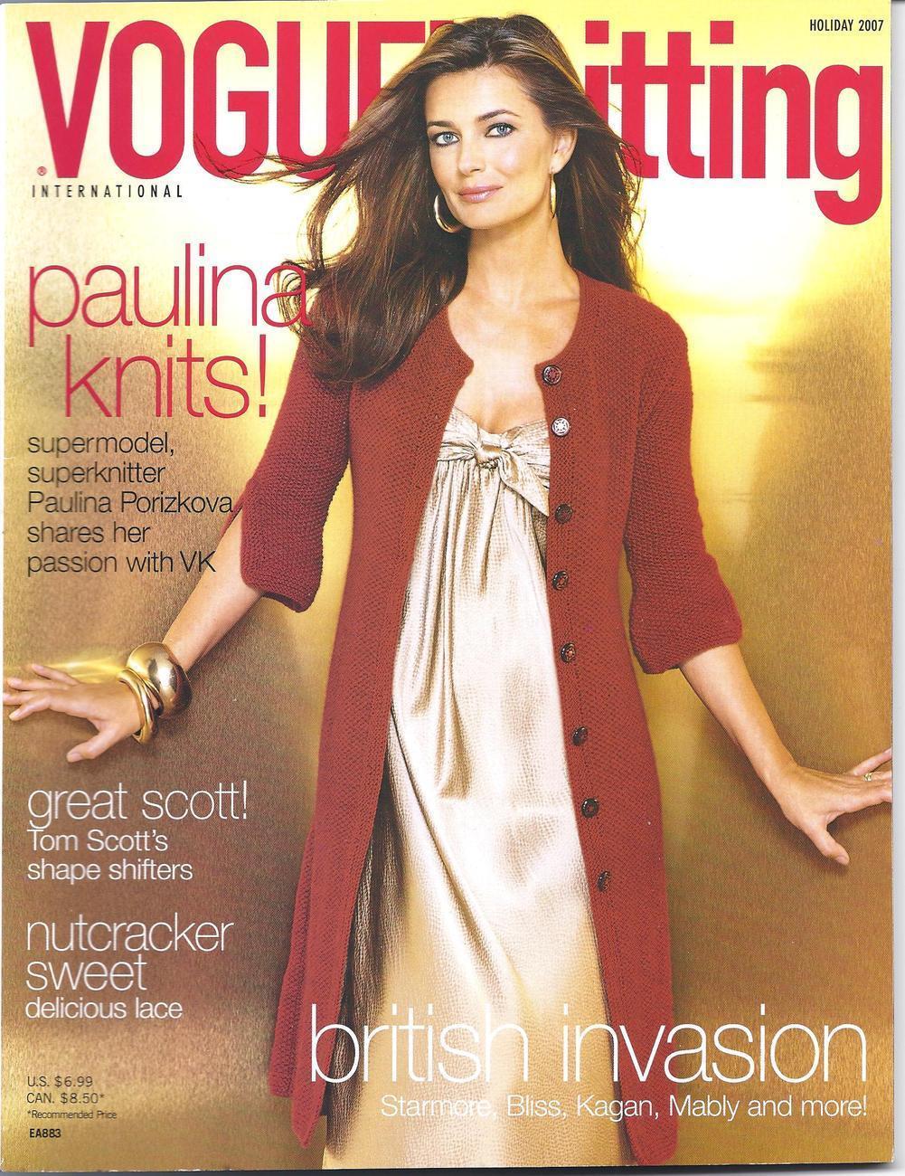 Vogue Knitting Magazine~Holiday 2007~NEW