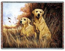 70x54 Yellow LAB LABRADOR Dog Tapestry Throw Blanket  - $60.00