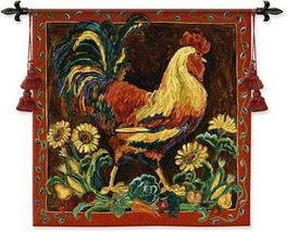 35x35 ROOSTER Chicken Fine Art Tapestry Wall Hanging - $109.95