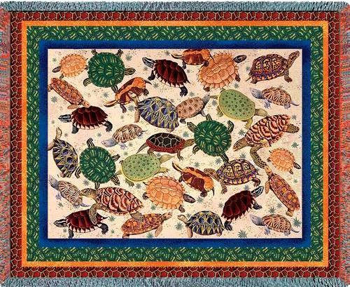 Primary image for 70x54 TURTLE Reptile Sea Nature Tapestry Afghan Throw Blanket