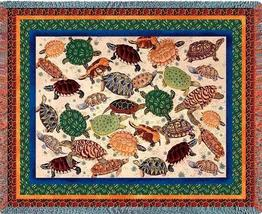 70x54 TURTLE Reptile Sea Nature Tapestry Afghan Throw Blanket - $60.00