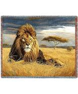 70x53 LION KING Jungle Tropical AFGHAN Throw Blanket  - $60.00