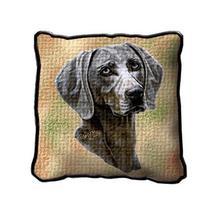 "17"" Large WEIMARANER Dog Pillow Cushion Tapestry - $32.50"