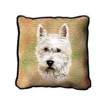 """17"""" Large WESTIE White Dog Pillow Cushion Tapestry - $32.50"""