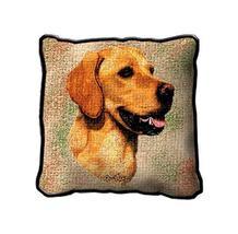 "17"" Large GOLDEN RETRIEVER Dog Pillow Cushion Tapestry - $32.50"