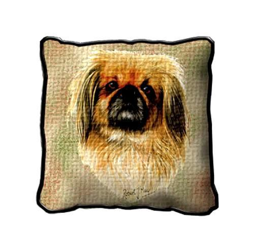 "17"" Large PEKINGESE Dog Pillow Cushion Tapestry"