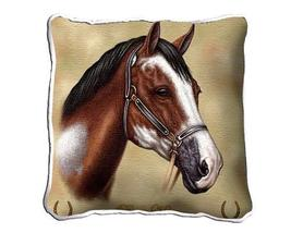 """17"""" Large PAINT HORSE Pillow Cushion Tapestry - $34.50"""