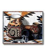 70x54 KOKOPELLI Pottery Southwest Afghan Throw Blanket  - $60.00