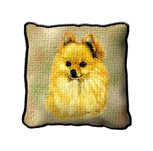 "17"" Large POMERANIAN Dog Pillow Cushion Tapestry"