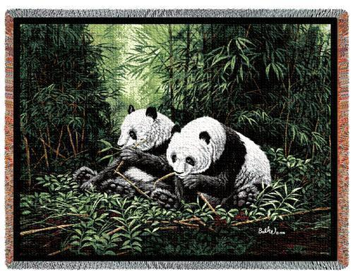 70x53 PANDA BEAR Wildlife Tapestry Throw Blanket Afghan