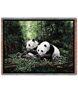 70x53 PANDA BEAR Wildlife Tapestry Throw Blanket Afghan - $60.00