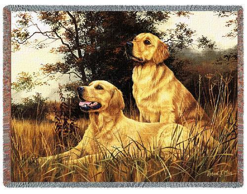 70x53 GOLDEN RETRIEVER Dog Tapestry Throw Blanket