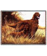 70x53 IRISH SETTER Dog Tapestry Throw Blanket Afghan - $60.00