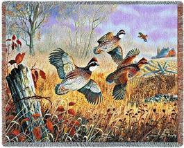 70x53 QUAIL Wildlife Bird Tapestry Afghan Throw Blanket - $60.00