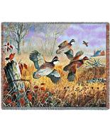 70x53 QUAIL Wildlife Bird Tapestry Afghan Throw Blanket - $60.00