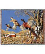 70x53 PHEASANT Wildlife Bird Tapestry Throw Blanket - $60.00