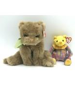 "Ty Classic November Beanie Babies Cameo Cat 2002 12"" Birthday 2001 Holog... - $10.99"