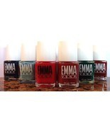 EMMA VSNP Nail Polish 6 Piece Set - Rose Red, Green, Burgundy, Blue, Pin... - £15.79 GBP
