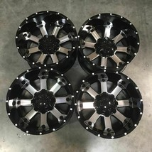 Used 20x10 D8 fit Ford F250 F350 8x170 -24 Black Machined Face Wheels set(4) - $749.00