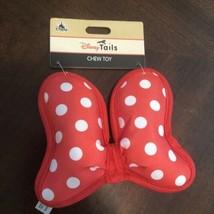 *NEW* Disney Parks Disney Tails Minnie Mouse Bow Dog Chew Toy - $12.00