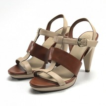 Cole Haan brown and tan strappy heels 6B - $39.59