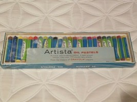 Binney Smith Crayola Artista Oil Pastels Set of 24 Vivid Colors #224 sea... - $38.56