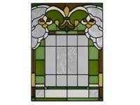 Primary image for 10x14 Stained Glass FLEUR DE LIS  Suncatcher Panel