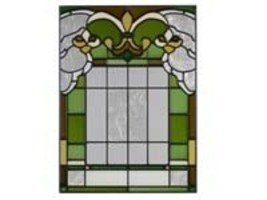 10x14 Stained Glass FLEUR DE LIS  Suncatcher Panel - $50.00