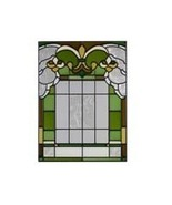 10x14 Stained Glass FLEUR DE LIS  Suncatcher Panel - $42.00