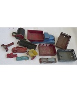Lot 13 parts antique tin toys vintage trucks die case - $35.00
