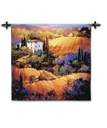 53x53 EVENING GLOW European Landscape Fine Tapestry Wall Hanging  - $179.95