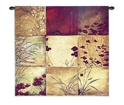31x31 POPPY Floral Contemporary Tapestry Wall Hanging - $99.95