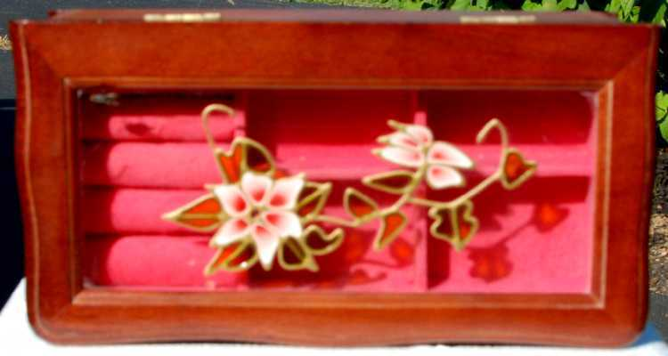Mele Wood Stained-glass effect Jewelry Box