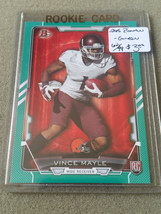 2015 Bowman Green #R82 Vince Mayle : Cleveland Browns Rookie Card 62/99 - $2.14
