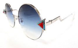 FENDI Women's Sunglasses FF0243/F/S Silver/Blue 55-21-140 MADE IN ITALY ... - $199.95