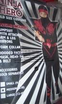Boys Ninja Warrior Costume SZ Med 8-10 NEW - $30.00