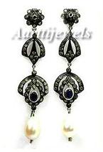 Victorian 1.45ct Rose Cut Diamond Gemstones Women's Earrings Christmas H... - $480.86
