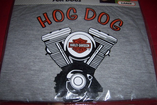 "Harley Davidson Pet Hog Dog T-Shirt SZ Large 20""-24"" NEW Gray"
