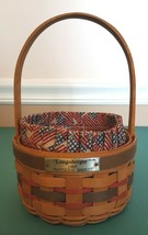 Longaberger 1997 INAUGURAL BASKET With Liner Protector  - $9.99