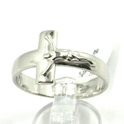 Silver Ring 925, cross with Christ, Square Flat