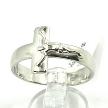 Silver Ring 925, cross with Christ, Square Flat image 1
