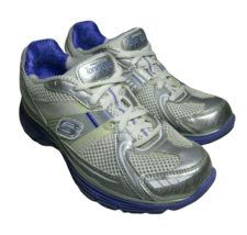 Skechers Size 5 Tone Ups Fitness Shoes 11751 White Purple Sneakers - £24.79 GBP