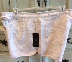 Calvin Klein Knit Shorts Drawstring Waist New Heather Gray Athletic Wome... - $19.99