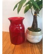 Royal Ruby Red vase Ships N 24h - $20.94
